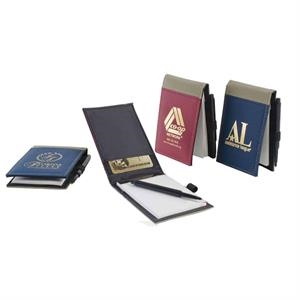 Sportnote - Vinyl Notebook And Pen, Fully Lined In Black Microfiber. Imported