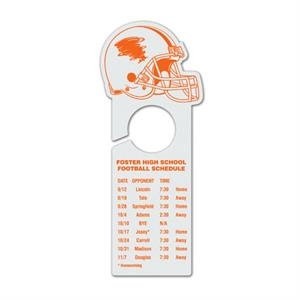 Football Helmet - Plastic Door Hangers In Seven Custom Shapes
