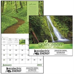 Goingreen (r) - Stapled, 2015 Appointment Calendar Is Eco-friendly, Beautiful And Informative
