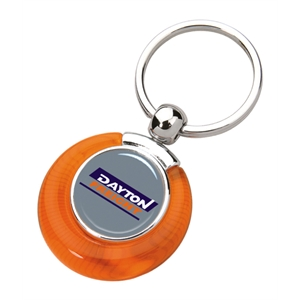 "Duo N-dome (tm) Bonny - Orange - Key Tag With Dimension 3 5/8"" X 1 1/16"""