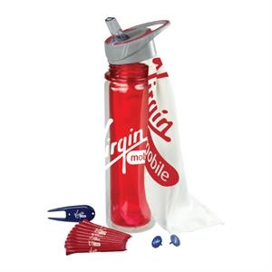 Hydrate - Sale 5-7 Day Production - 20 Oz Double Wall Tritan Bottle With Golf Accessories