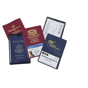 Travel Mate - Auto Id/passport Case, Front With Clear Card Slot And Full Size Pocket On Back