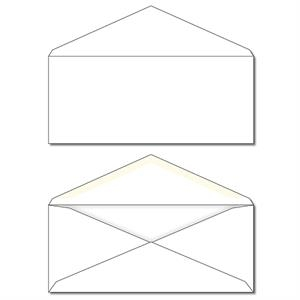 "9.5"" X 4.125"" - Envelope - Plain White"