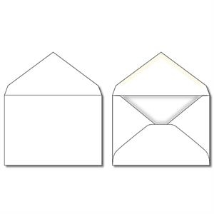 "5.125"" X 3.625"" - Envelope - Plain White"