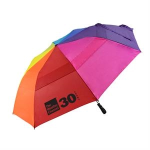 "Rainbow Automatic Open Golf Umbrella With Wind Resistant Design, 22"" Folded; 58"" Arc"