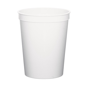White - 12oz Stadium Cup Available In 12 Colors