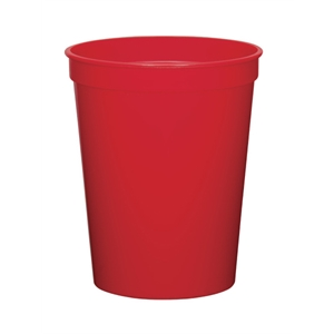 Red - 12oz Stadium Cup Available In 12 Colors