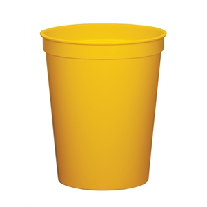 Yellow - 12oz Stadium Cup Available In 12 Colors