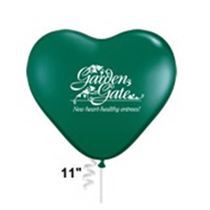 "Qualatex (r) - 11"" Heart Shape Biodegradable Latex Balloon In Standard Colors"