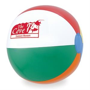 "12"" Assorted Panel Heavy Gauge Vinyl Beach Ball"