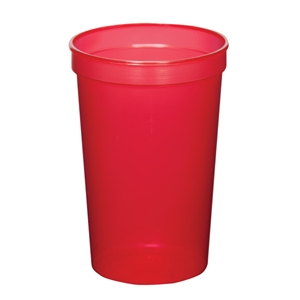 Translucent Red - 22oz Stadium Cup (squat) - 11 Opaque And 4 Translucent Colors