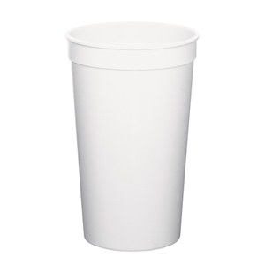 White - 22oz Stadium Cup (squat) - 11 Opaque And 4 Translucent Colors