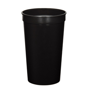 Black - 22oz Stadium Cup (squat) - 11 Opaque And 4 Translucent Colors