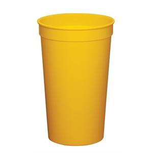 Yellow - 22oz Stadium Cup (squat) - 11 Opaque And 4 Translucent Colors
