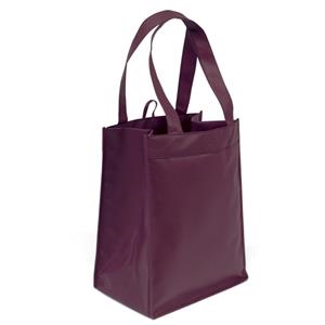 "Bottle Style Tote With 6 Interior Floating Sleeves, Reinforced 18"" Handles"