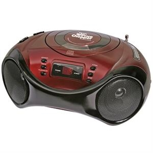Sport design portable stereo CD player with AM/FM radio