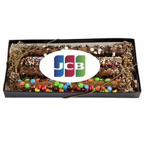 Decorated Gourmet Pretzel Gift Box w Customized Label