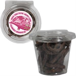 Round Safe-T Fresh Container With Chocolate Covered Pretzels