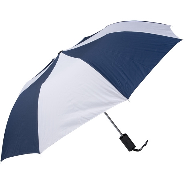 "Navy-white - Personal Pop-up Umbrella, 42"", Folds To 14"" Photo"