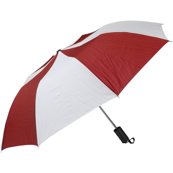 "Red-white - Personal Pop-up Umbrella, 42"", Folds To 14"" Photo"