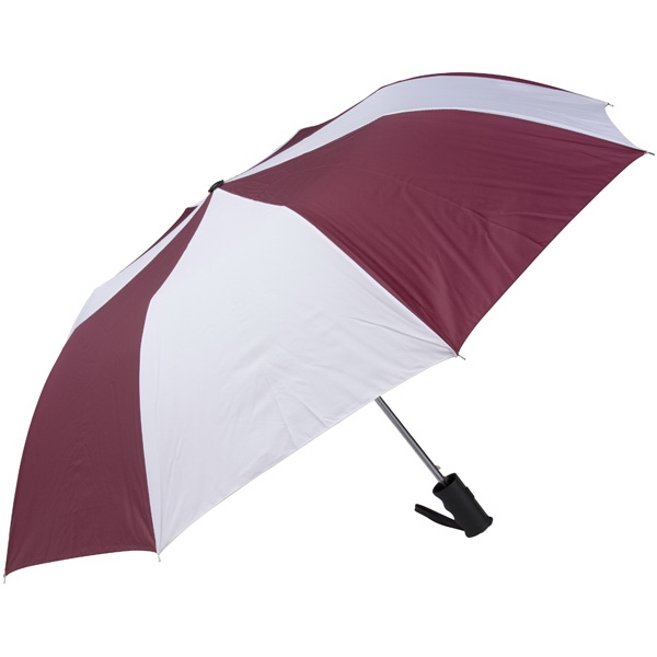 "Wine-white - Personal Pop-up Umbrella, 42"", Folds To 14"" Photo"