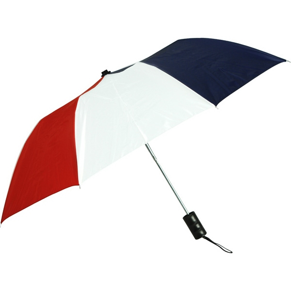 "Red-white-navy - Personal Pop-up Umbrella, 42"", Folds To 14"" Photo"