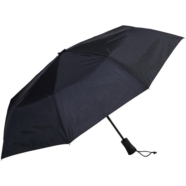 "Black - Automatic Open/close Folding 42"" Umbrella With Black Metal Shaft Photo"