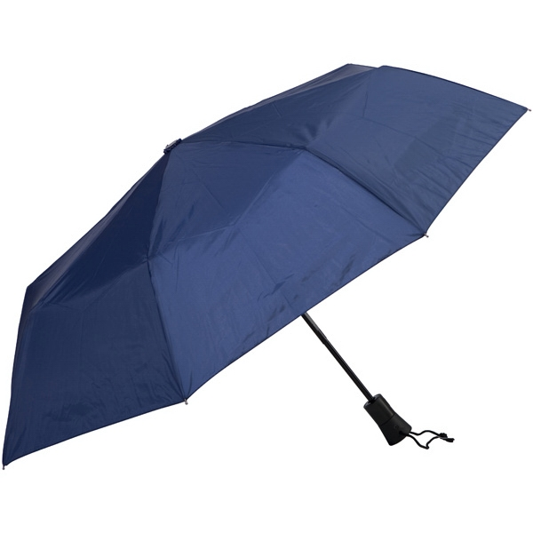 "Navy - Automatic Open/close Folding 42"" Umbrella With Black Metal Shaft Photo"