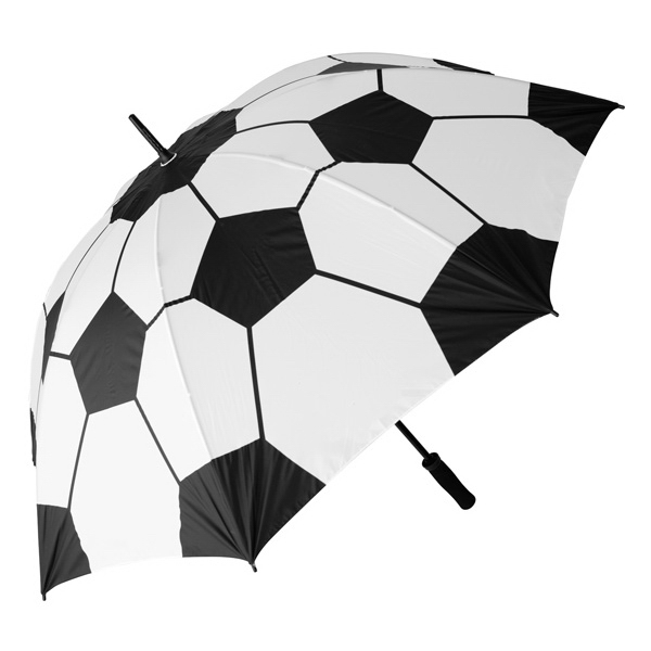 "Soccer Ball Specialty Umbrella, 60"" Arc Photo"