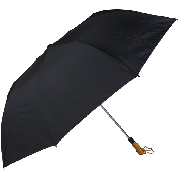 "Black - 58"" Folding Golf Umbrella With Automatic Open Photo"