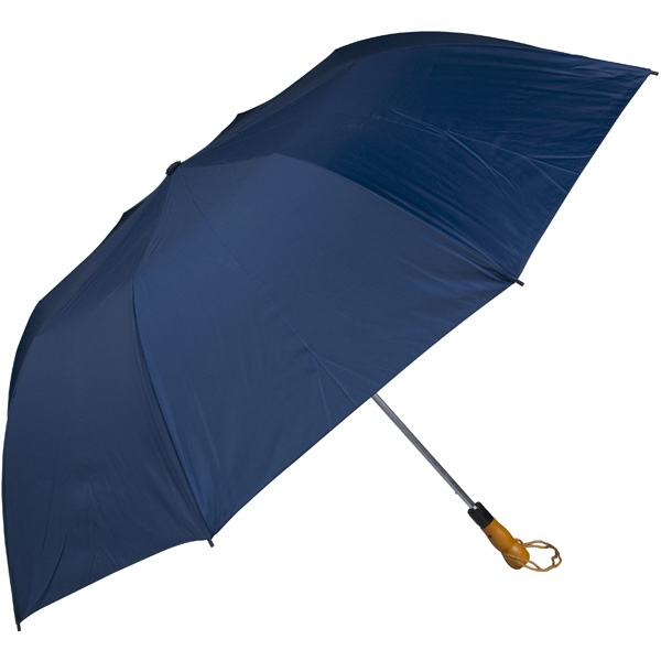 "Navy - 58"" Folding Golf Umbrella With Automatic Open Photo"