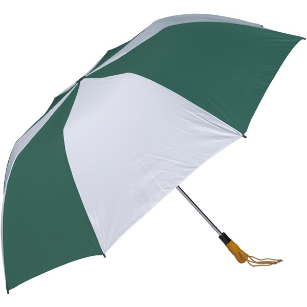 "Pine-white - 58"" Folding Golf Umbrella With Automatic Open Photo"