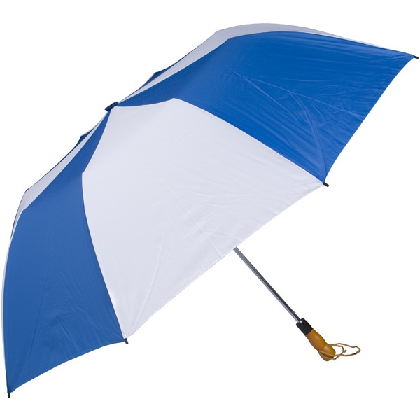 "Royal-white - 58"" Folding Golf Umbrella With Automatic Open Photo"