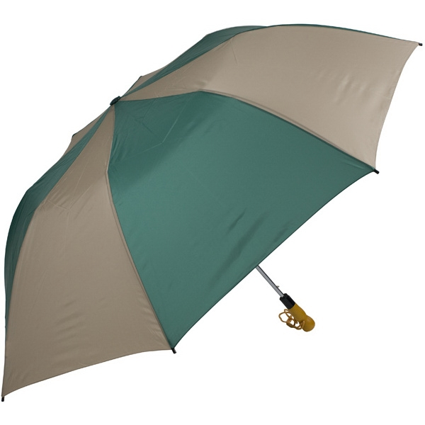 "Pine-tan - 58"" Folding Golf Umbrella With Automatic Open Photo"