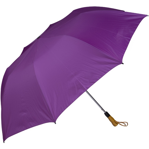 "Purple - 58"" Folding Golf Umbrella With Automatic Open Photo"