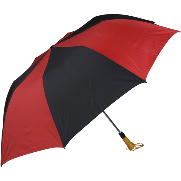"Red-black - 58"" Folding Golf Umbrella With Automatic Open Photo"