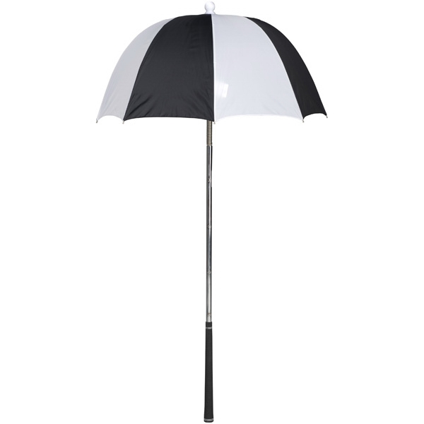 Bag Brolly (tm) - Black-white - Umbrella Protects Golf Clubs From The Rain Photo