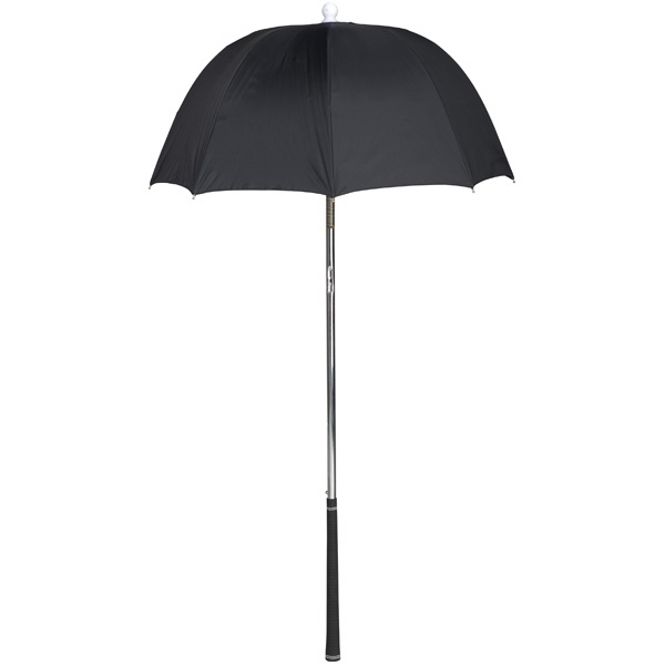 Bag Brolly (tm) - Black - Umbrella Protects Golf Clubs From The Rain Photo