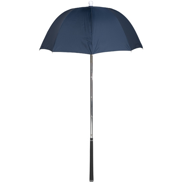 Bag Brolly (tm) - Navy - Umbrella Protects Golf Clubs From The Rain Photo