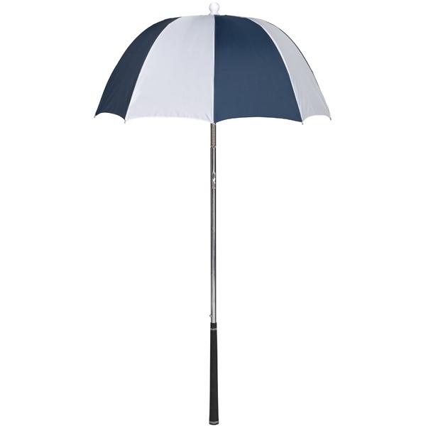 Bag Brolly (tm) - Navy-white - Umbrella Protects Golf Clubs From The Rain Photo