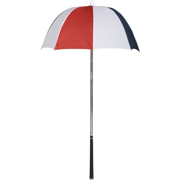 Bag Brolly (tm) - Red-white-navy - Umbrella Protects Golf Clubs From The Rain Photo