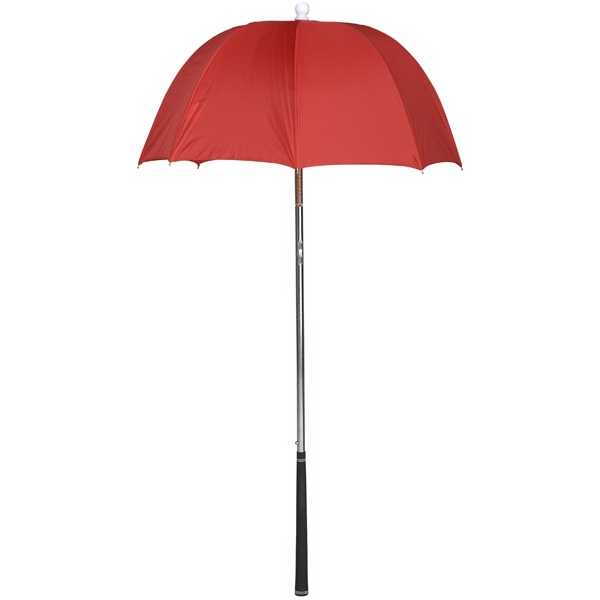 Bag Brolly (tm) - Red - Umbrella Protects Golf Clubs From The Rain Photo