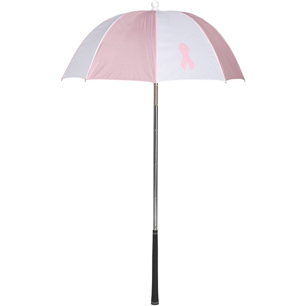 Bag Brolly (tm) - Golf Club Umbrella With Breast Cancer Awareness Ribbon Photo