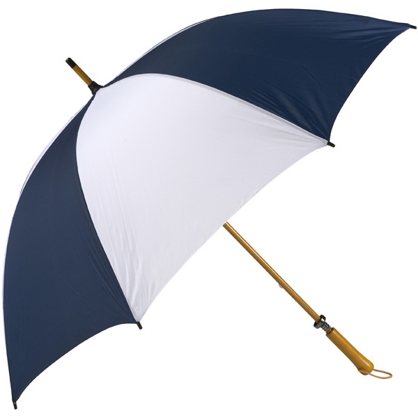 Eagle (tm) - Navy-white - Classic Golf Size Umbrella With Wooden Shaft Photo