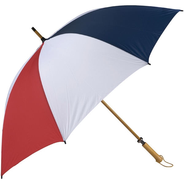 Eagle (tm) - Red-white-navy - Classic Golf Size Umbrella With Wooden Shaft Photo
