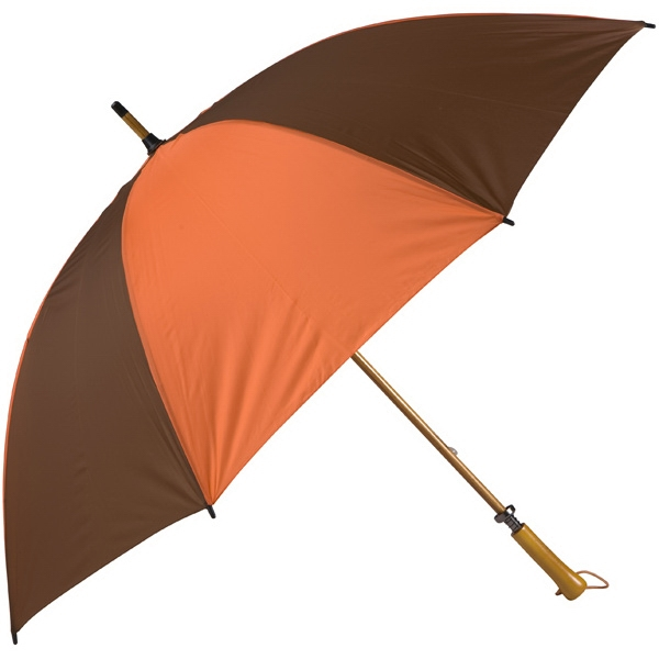 Eagle (tm) - Orange-brown - Classic Golf Size Umbrella With Wooden Shaft Photo