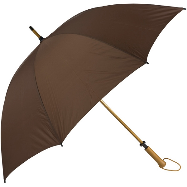 Eagle (tm) - Brown - Classic Golf Size Umbrella With Wooden Shaft Photo