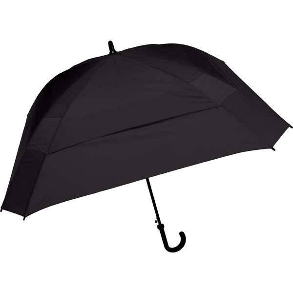 "The Concierge - Black - Classic Square Umbrella, 62"" Of Coverage To Comfortably Keep Two People Dry Photo"