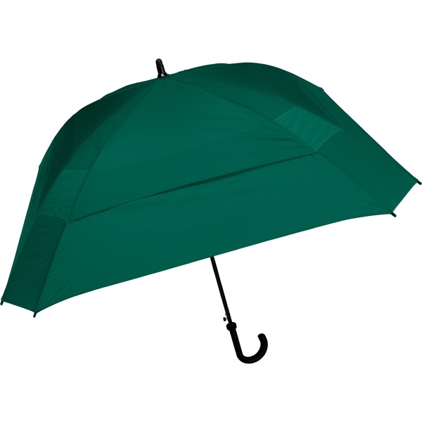 "The Concierge - Pine - Classic Square Umbrella, 62"" Of Coverage To Comfortably Keep Two People Dry Photo"