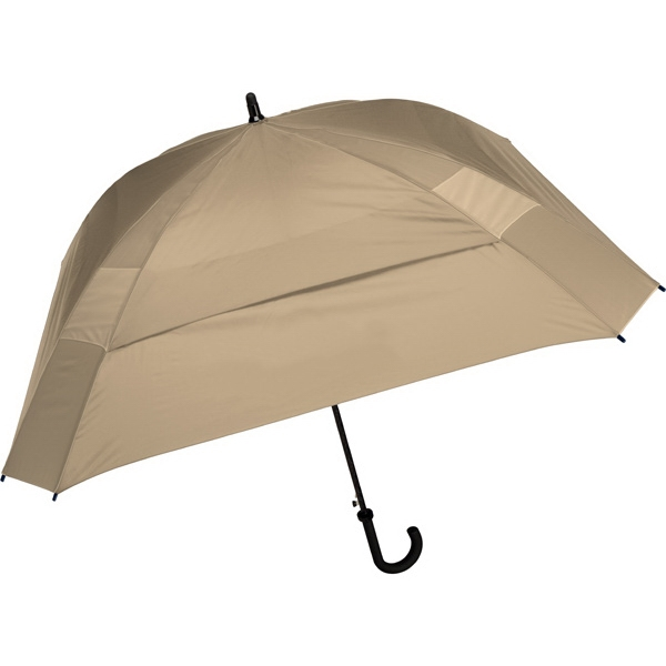 "The Concierge - Tan - Classic Square Umbrella, 62"" Of Coverage To Comfortably Keep Two People Dry Photo"